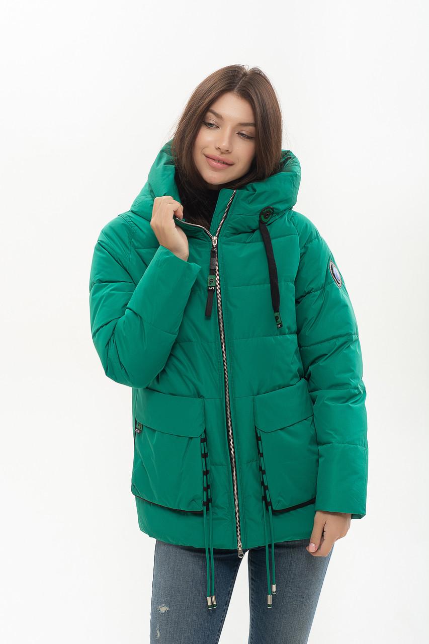 Пуховик Peercat 20-808 зелёного цвета M