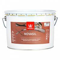 Фасадная краска силикономодифицированная Tikkurila Novasil (белая) 9 л