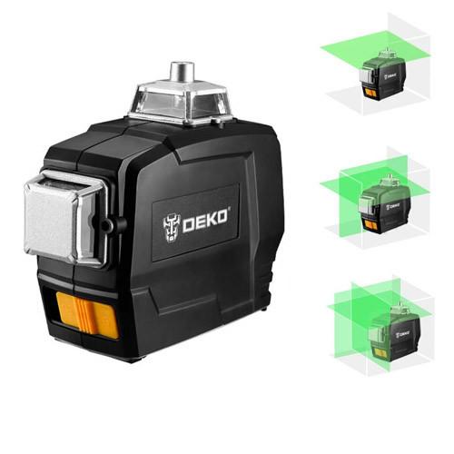 Профессиональный лазерный уровень нивелир 12 линий АКБ Deko DKLL12PB1
