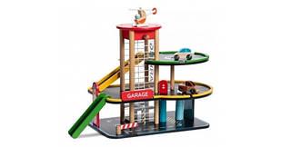 Игровой набор Classic world Гараж с лифтом, спусками, машинками и вертолётом