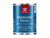 Алкидная краска для оцинкованного металла Tikkurila Panssarimaali (белый) 0,9 л