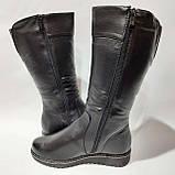 Жіночі зимові чоботи з ека-шкіри Чорні р. 38,39,40,42, фото 6