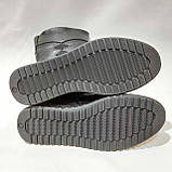 Жіночі зимові чоботи з ека-шкіри Чорні р. 38,39,40,42, фото 8