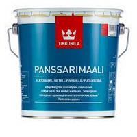 Алкидная краска для оцинкованного металла Tikkurila Panssarimaali (белый) 2,7 л