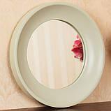 Зеркало в рамке цвет нежно-оливковый/Диаметр 1000 мм/ Зеркало круглое для спальни/ Код MD 3.1/7, фото 2