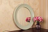 Зеркало в рамке цвет нежно-оливковый/Диаметр 1000 мм/ Зеркало круглое для спальни/ Код MD 3.1/7, фото 3