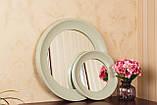 Зеркало в рамке цвет нежно-оливковый/Диаметр 1000 мм/ Зеркало круглое для спальни/ Код MD 3.1/7, фото 4