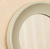 Зеркало в рамке цвет нежно-оливковый/Диаметр 1000 мм/ Зеркало круглое для спальни/ Код MD 3.1/7, фото 5