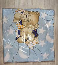Комплект постельный детский 3 предмета бязь 3 ,цвета   арт 291. голубой Мишки