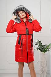 Зимова куртка жіноча штучне хутро Різні кольори