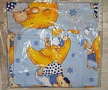 Комплект постельный детский 3 предмета бязь 3 ,цвета   арт 291. голубой Мишки на луне