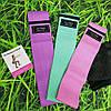 Фитнес резинки набор 3 шт тканевые для фитнеса в мешочке Ленты сопротивления Эспандеры для ног ягодиц, фото 4