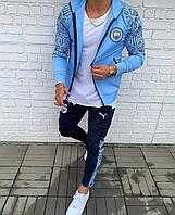 Молодежный спортивный костюм двухцветный с узорами на рукавах PUMA ( реплика)
