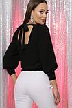 Нарядная женская кофта с открытой спинкой черная Ксения, фото 3