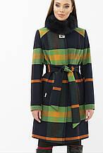 Женское пальто зимнее в клетку MS-125 Z