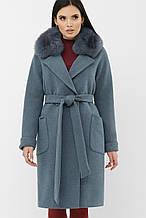 Пальто женское зимнее серо-голубое MS-233 Z