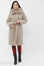 Пальто женское зимнее светло-серое MS-233 Z