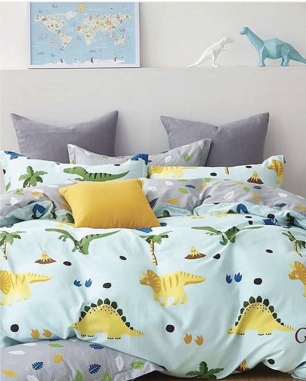 Семейное постельное белье-Динозавры игрушки