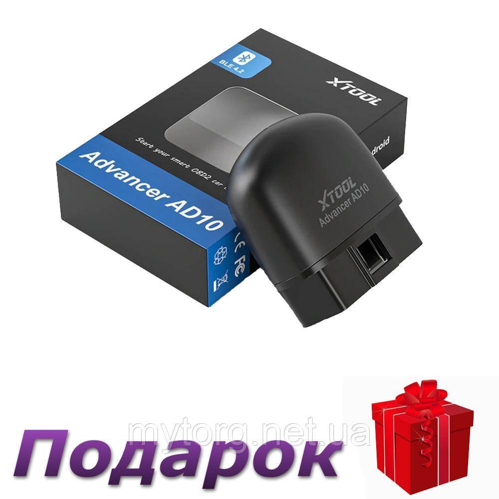 Диагностический сканер Xtool AD10 OBD2 Bluetooth 4.2 ELM327 для Android, IOS