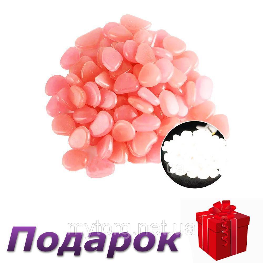 Светящиеся камни для декора сада аквариума 100 шт  Розовый
