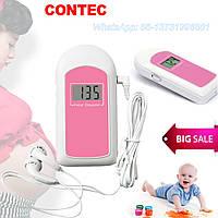Фетальный Допплер с наушниками, детектор сердцебиения для беременных, карманный допплер с гелем