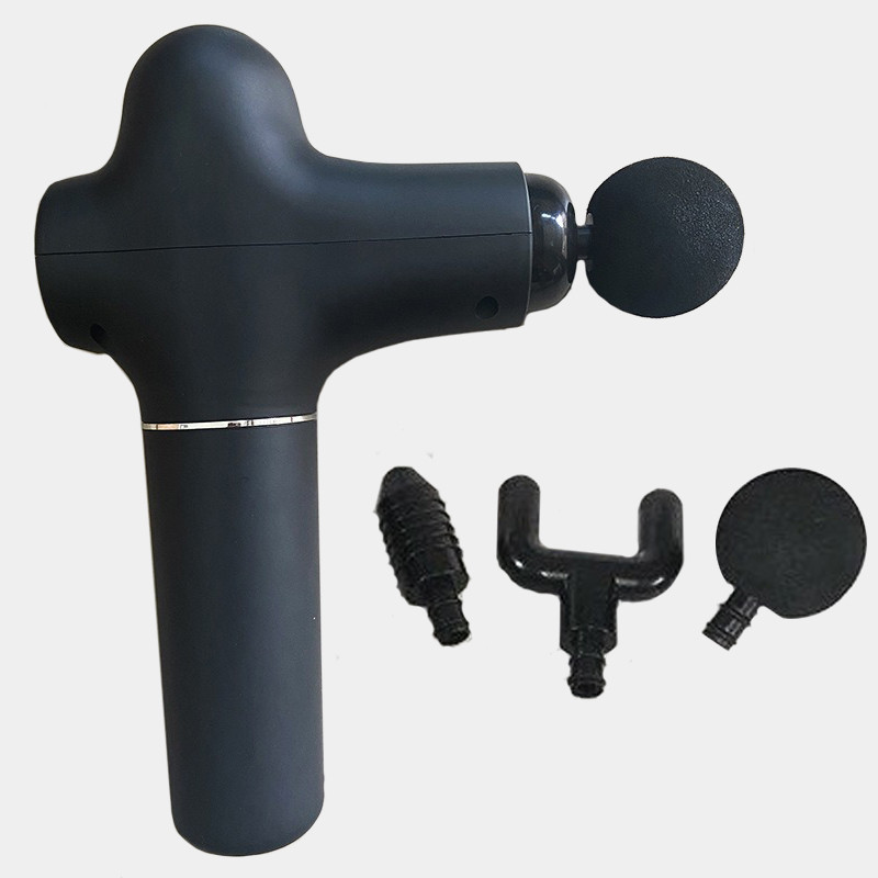 Портативний ручний перкусійний масажний пістолет з трьома насадками Massage Gun масажер для всього тіла