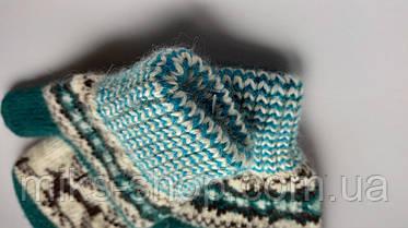 Варежки рукавиці 100 % шерсть на 7-9 р, фото 3