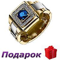 Кольцо-печатка Jewelry размер 11 Золотой, фото 1