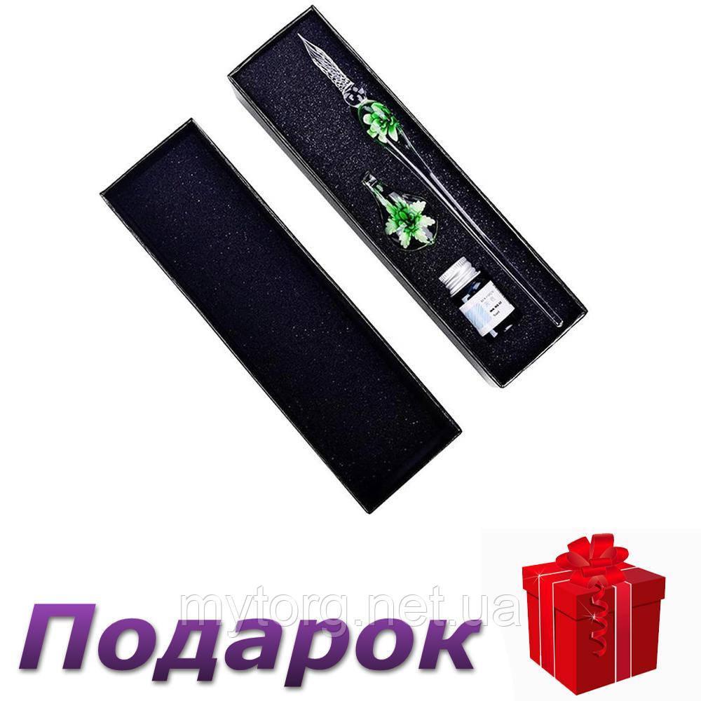 Перьевая ручка с чернилами Dip стеклянная  Зеленый