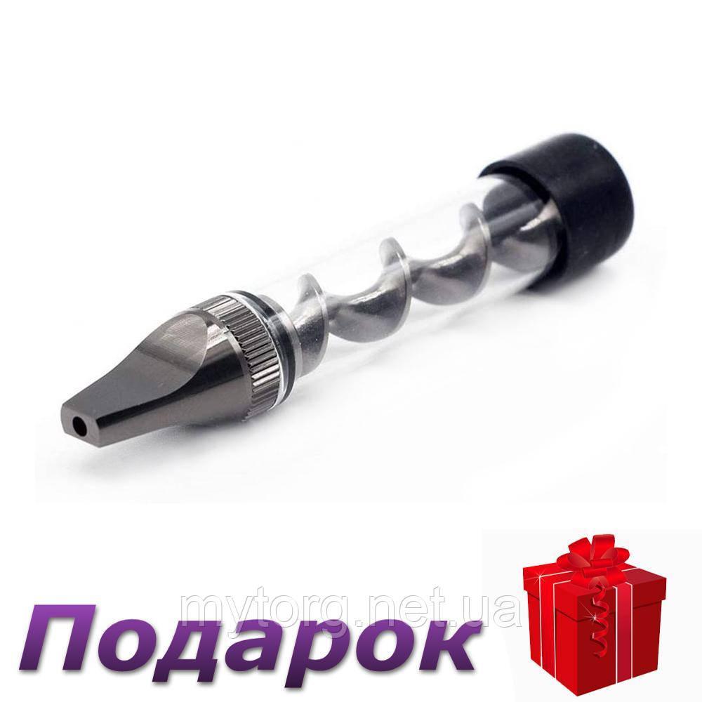 Трубка для курения табака стеклянная  Черный