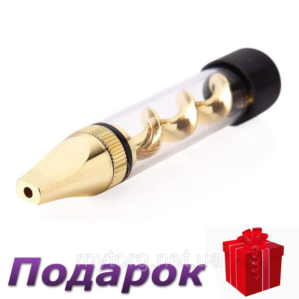 Трубка для курения табака стеклянная  Золотой