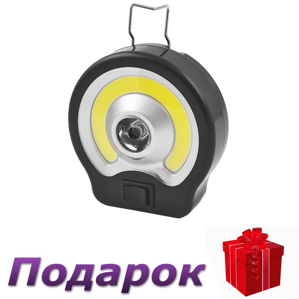 Фонарь для кемпинга BL-985-COB с магнитом, 3xAAA, петлей для подвеса  Черный