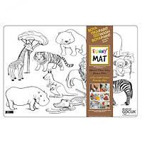 """Веселый коврик """"Дикие животные"""", товары для творчества,раскраски,dankotoys,игрушки товары для детей,роспись по"""