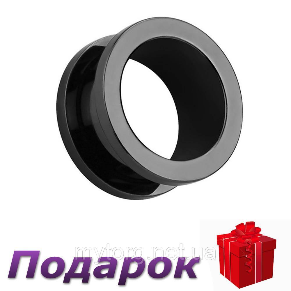 Тоннели в ухо Store 2 шт. 6 мм Черный