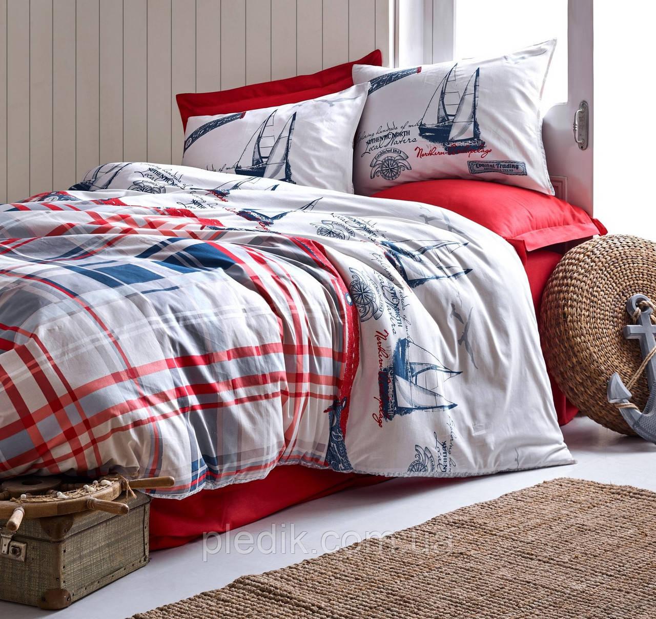 Двуспальное постельное белье 200х220 Cotton box Ранфорс Alesta
