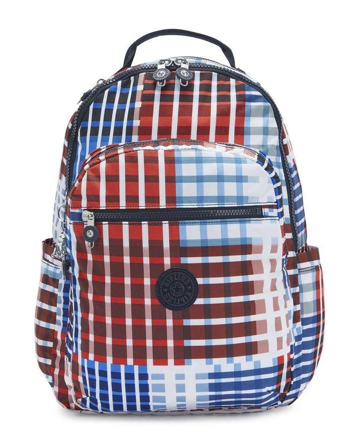 Городской рюкзак Kipling Basic Prt на 27 л разноцветный