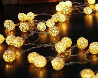 Ротанговый тайский фонарик