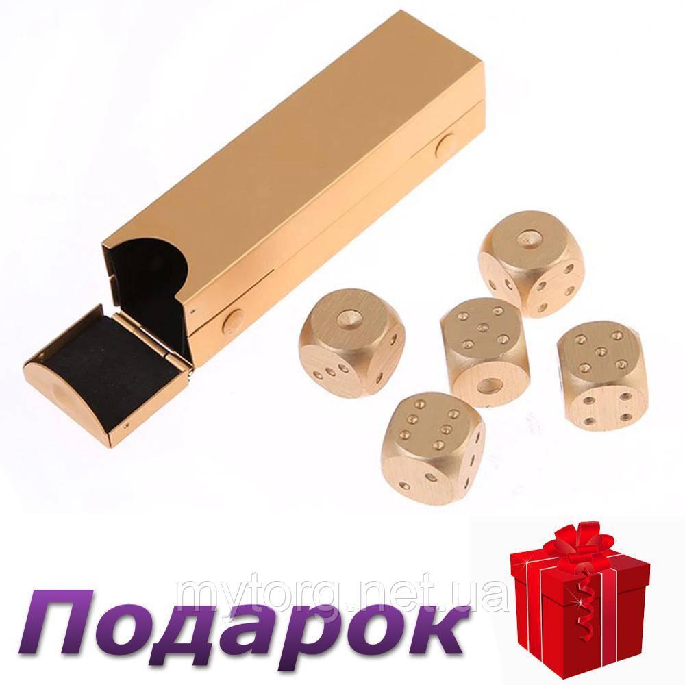 Набор костей Moun 5 шт. из алюминия Прямоугольная коробка Золотой