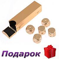 Набор костей Moun 5 шт. из алюминия Прямоугольная коробка Золотой, фото 1