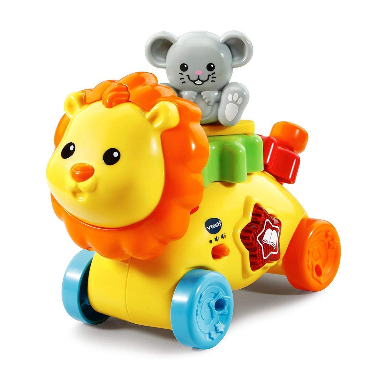 Лев с шестеренками музыкальная развивающая игрушка VTech Gearzooz Gearbuddies Lion & Mouse