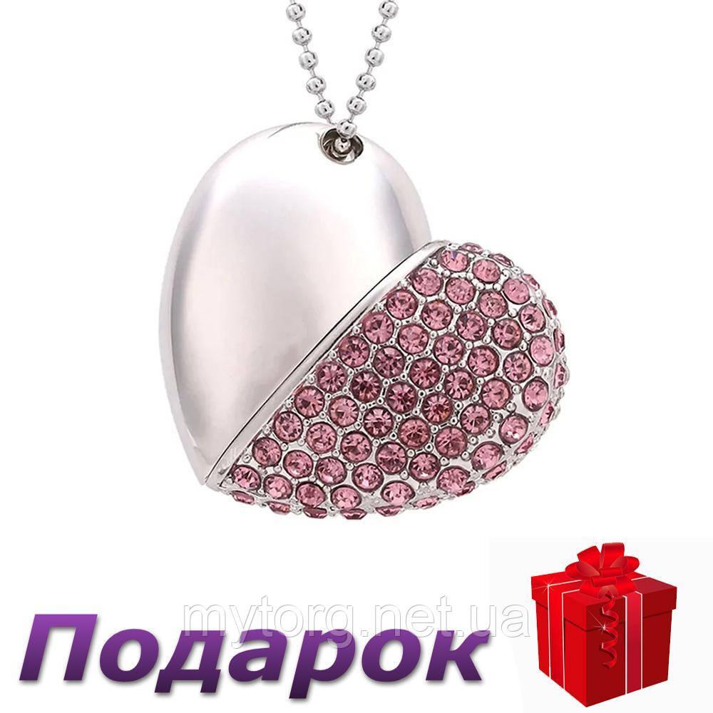 Флеш накопитель кулон Satzuma Сердце 32 ГБ  Розовый