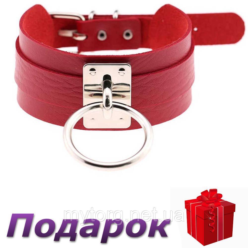 Ошейник для БДСМ SToys  Красный