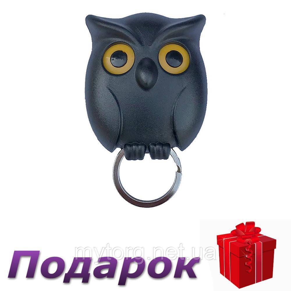 Держатель для ключей Сова Owl Pan Qualy  Черный