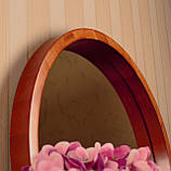 "Зеркало в круглой деревянной раме/Диаметр 320 мм/ Зеркало в дереве цвет ""Вишня""/ Код MDD 2.1/1, фото 2"