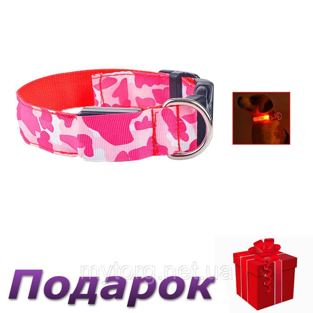 Светящийся светодиодный ошейник для собак TAILUP XL Красный