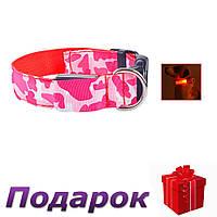 Светящийся светодиодный ошейник для собак TAILUP XL Красный, фото 1