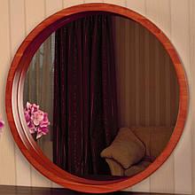 "Зеркало в круглой деревянной раме/Диаметр 320 мм/ Зеркало в дереве цвет ""Вишня""/ Код MDD 2.1/1"