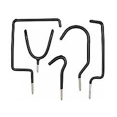Крючки(Настенные)Вешалки Металлические с Резьбой Max = 15 кг Набор(Комплект)5 шт VOREL 74688