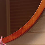 Деревянная рама зеркало круглое/Диаметр 390мм/ Зеркало в дереве цвет вишня/ Код MDD 2.1/2, фото 3