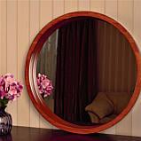 Деревянная рама зеркало круглое/Диаметр 390мм/ Зеркало в дереве цвет вишня/ Код MDD 2.1/2, фото 4
